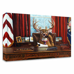 Tangletown The Buck Stops Here By Lucia Heffernan On Canvas 32x24 8h1443dc-3224
