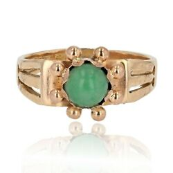 Ring Antique Jade Rose Gold White Gold Belle époque Jewelry Antiques