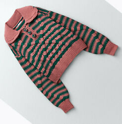 Zara New Woman Peter Pan Collar Cable-knit Sweater With Stripes S,m,l 5802/111