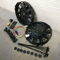 1949 - 1954 Chevy 8 Dual Fans Air Cooling Fan Push Pull Electric Slim 12v