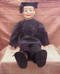 Vintage 1960and039s Paul Winchelland039s Jerry Mahoney 24 Ventriloquist Dummy Cap And Gown