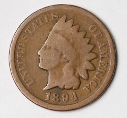 1894 Indian Head Penny One Cent 1c Uncertified Better Date,