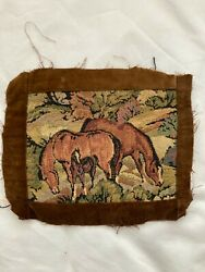 Tapestry Of Horses In A Field For Repurposing