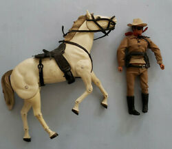 Vintage 1973 Gabriel The Lone Ranger And Silver Horse Action Figure Complete