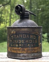 Cool Early Standard Oil Co. Household Lubricant Metal Oiler Awesome Graphics