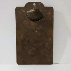Antique Shell Brass Metal Decorative Index Card Sized Clipboard