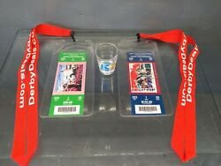 Churchill Downs Kentucky Derby And Oaks 2013 Tickets With Lanyards And Shot Glass