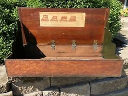 Antique Ferry Morse Seed Sales Box Store Display Original Metal Sides = Hold Lid