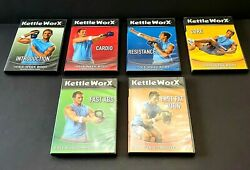 Kettleworx Lot Of Six Dvd's Intro, Cardio, Resistance, Core, Abs And Fat Burn