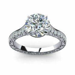 0.85 Carat Real Diamond Engagement Ring Solid 950 Platinum Rings Size 5 6 7 8 9