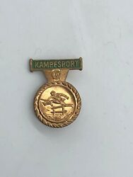 Vintage East German Stasi Combat Sports Competition Award Pin, 3rd Class Only 1