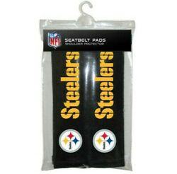 2pc Nfl Pittsburgh Steelers Car Truck Bag Seat Belt Pads / Shoulder Pads Covers