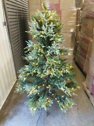 Open Box Balsam Hill Fraser Fir 5.5' Tree With Candlelight Led Lights Christmas