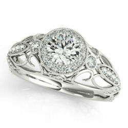 Real 1.00 Ct Round Diamond Engagement Ring Solid 950 Platinum Rings Size 8 9 10