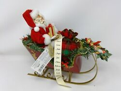 Dept 56 Possible Dreams Snuggled Up Together Santa And Mrs Claus In Sleigh 4027075