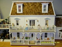 Fabulous Doll House Furnished - Rt Main House 4 Of 5 By Barbara Hairfield