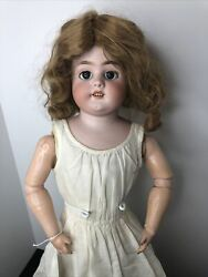 """27"""" Antique German Simon And Halbig 1080 Kid Leather And Compo Ball Jointed Doll L"""