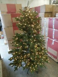 Open Box Balsam Hill Fraser Fir 5.5' Tree With Clear Led Lights Christmas Kwanza