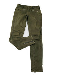 Pilcro And The Letterpress Womenand039s 26 Superscript Military Skinny Pants Green