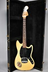 1977 Fender Mustang Olympic White Finish Electric Guitar W/ohsc