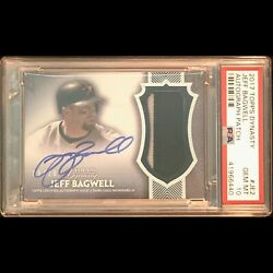 2017 Topps Dynasty Jeff Bagwell Hof Houston Astros Auto Patch Rpa Psa 10 Gem Mt