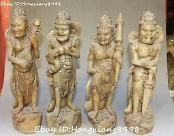 12chinese Shoushan Stone 4 Great Heavenly Kings Immortals God Seal Stamp Signet