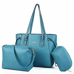 Tote Bags for Women Crossbody Leather Purses with Wallet Clutch Set 3 pcs $44.01