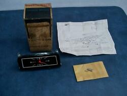 Vintage 1970and039s Gm Electric Dash Car Clock W/orig. Box And Instr. Chevelle Models
