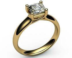 Perfect Gift 1.50 Ct G Si1 Radiant Lab Diamond Solitaire 14k Yellow Gold Ring