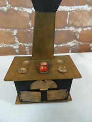 Doll House Antique Wood Fire Cook Stove And Ovensno Brandw/topscute 4x2.5x3
