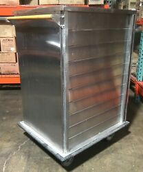 10-tier Stainless Steel Enclosed Food Tray Cart