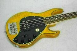 Sterling 5-string Electric Bass Ray35 Used 3way Switch Quilt Maple Top/soft Case