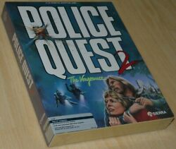 Police Quest 2 Sierra Atari St Big Boxed New/sealed Collectible, English