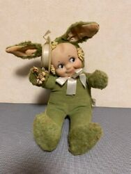 Vintage Knickerbocker Toy Rubber Face Plush Doll H 35cmbody Tag