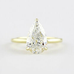 14k Or Jaune Mariage Pleasant 0.80 Ct Real Diamond Engagement Ring Taille O P Q