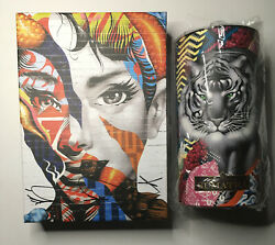Tristan Eaton Puzzle Display With Print Audrey Of Mulberry Signed With Starbucks