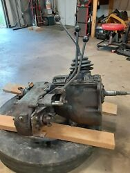 T-18 4 Speed Transmission,two Stick Transfer Case From 1967 Scout 800-pto Port