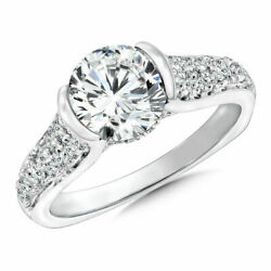 Christmas 1.05 Ct Real Round Diamond Engagement Ring Solid 18k White Gold Size 8