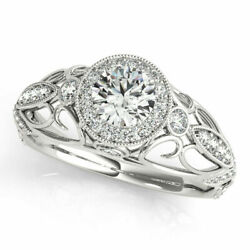 Real 1.00 Ct Round Diamond Ladies Ring For Wedding Solid 950 Platinum Size 6 7 8