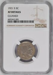 1921 S Buffalo Nickel Ngc Xf Details Cleaned Registry Coin 5c Better Date