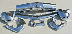 X Cadillac New Triple Plated Chrome Front Impact Bumper 1964 64 Oem