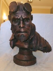 Sideshow 11 Scale Hellboy Faux Bronze Life Size Bust Statue Figure Sample