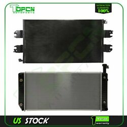 Fits Chevrolet Express Gmc Savana Replacement Radiator And Condenser Assembly
