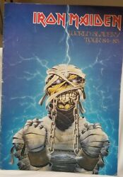 Iron Maiden 1984 Tour Concert Program Book - Vg+ Center Page Is Loose In Book