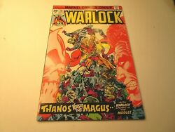 1975 Warlock 10 In Very Fine + Condition With Thanos Vs. Magus Very Hot