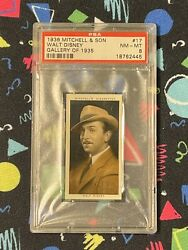 Psa 8 Walt Disney 1935 1936 Mitchell And Son Cigarette Card 17 Mickey Mouse