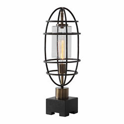 Uttermost Newton Jim Parsons Steel And Glass Table Lamp 29645-1