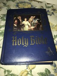 1971 Masonic Holy Bible Master Reference Red Letter Edition Heirloom