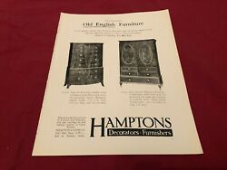 Aabk3 Antiques Advert 11x9 Hamptons Bow Front Chest Of Draws