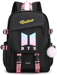 Alikpop BTS Butter Ablum Backpack School Bookbag Casual 15.6 inches Laptop For $32.19